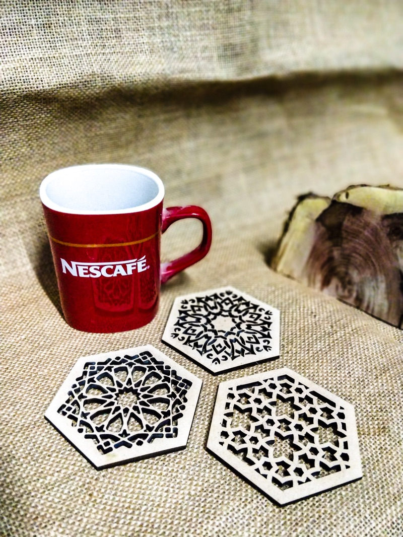 Hexagonal Coaster set