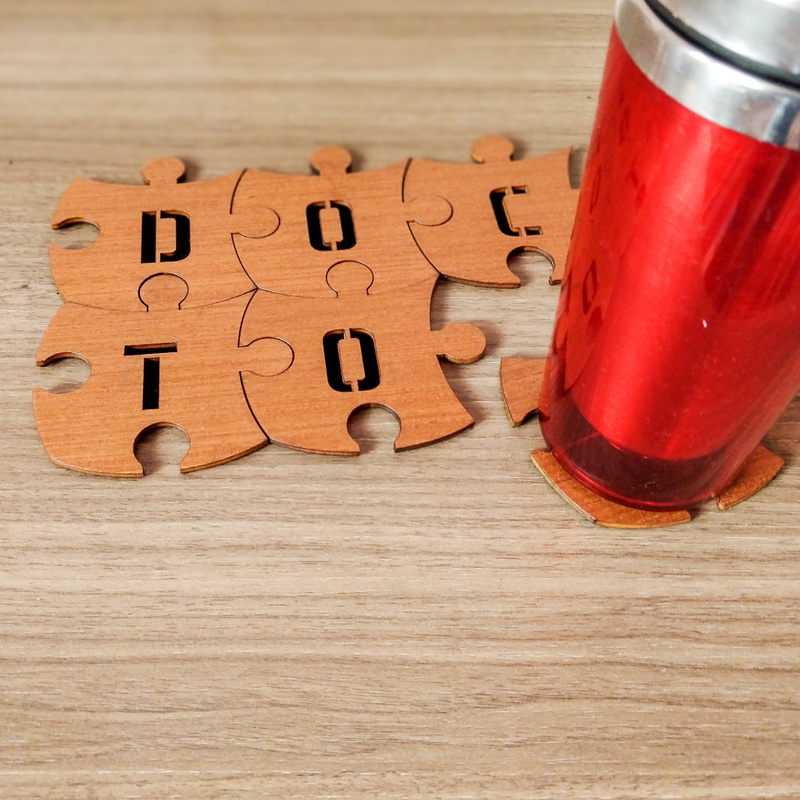Doctor Puzzle Coaster set