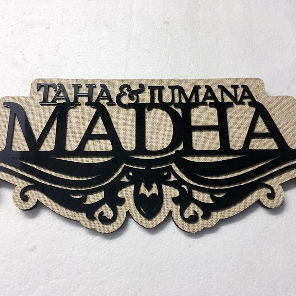 Antique Jute Finish Nameplate