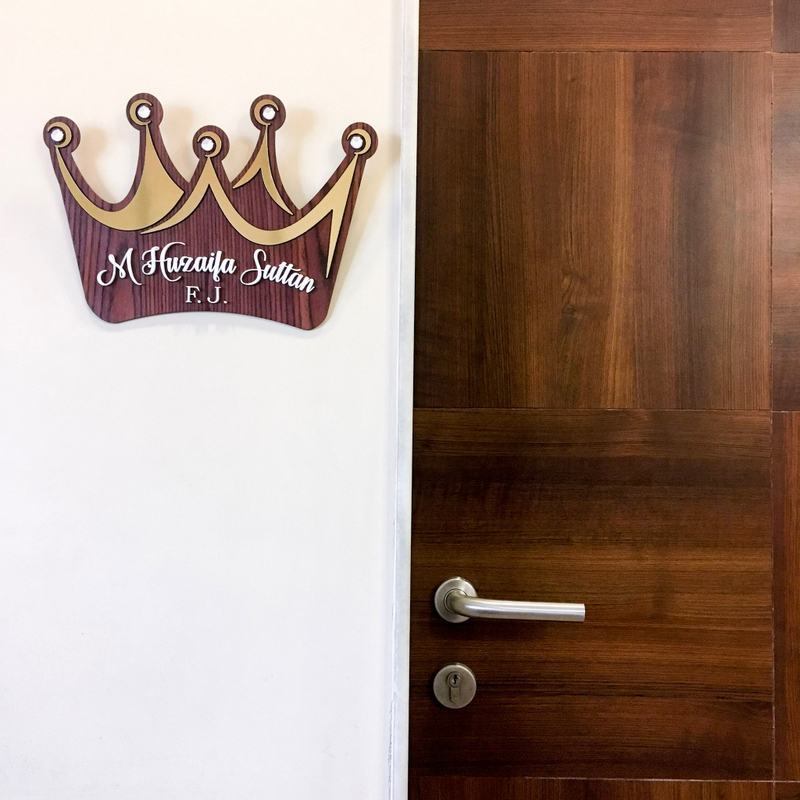 Crown Nameplate