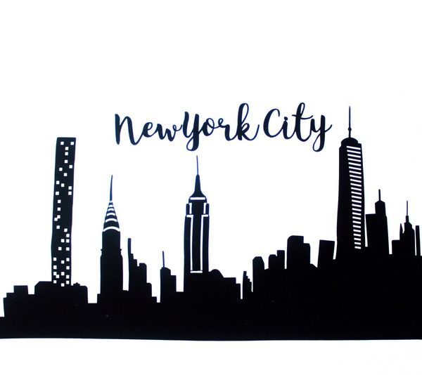 New York Skyline Applique