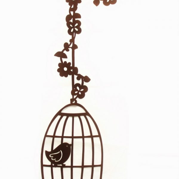Hanging Bird Cage Applique