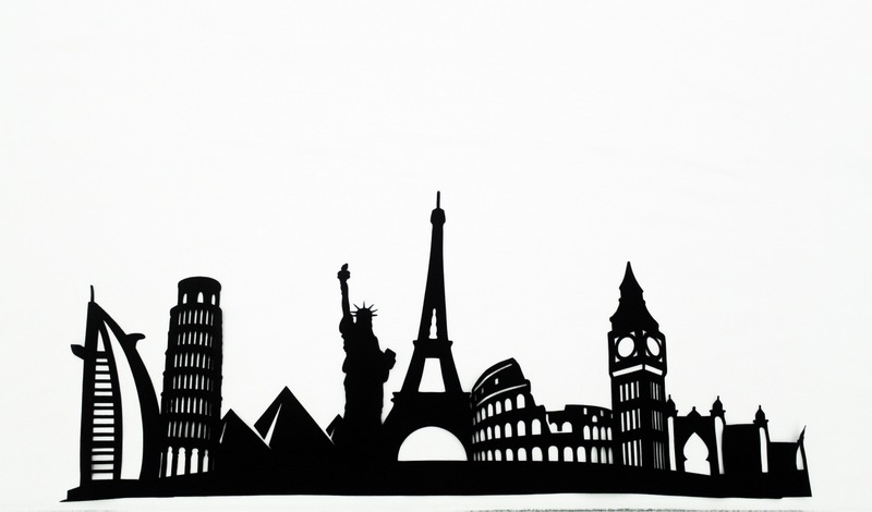 Wonders of the World Skyline Applique