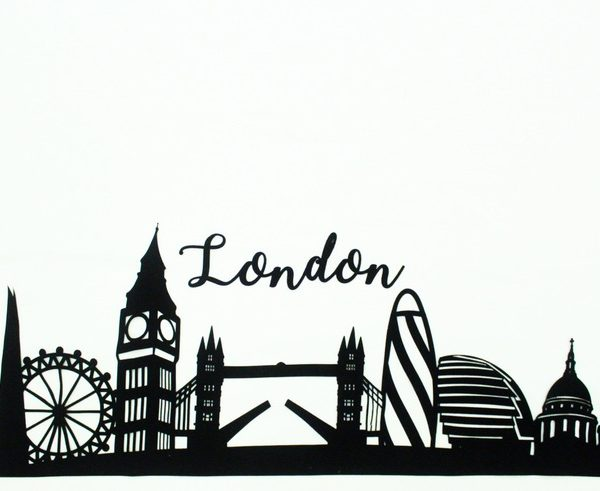 London Skyline Applique