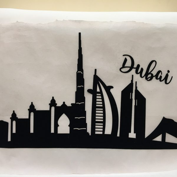 Dubai Skyline Applique