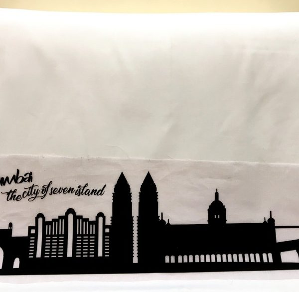 Mumbai Skyline Applique