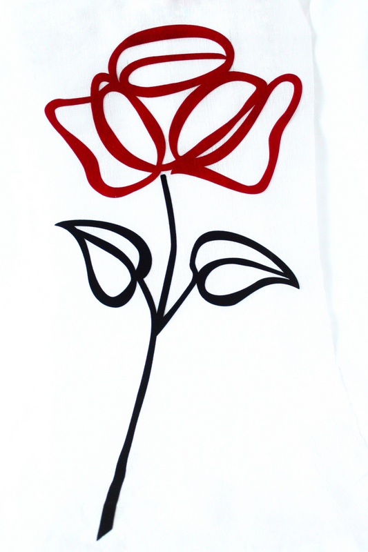 Roses are Red Applique