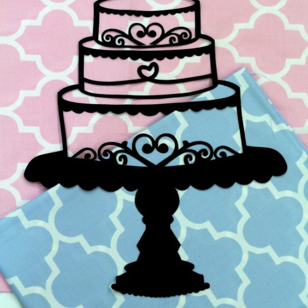 Cake Stand Applique