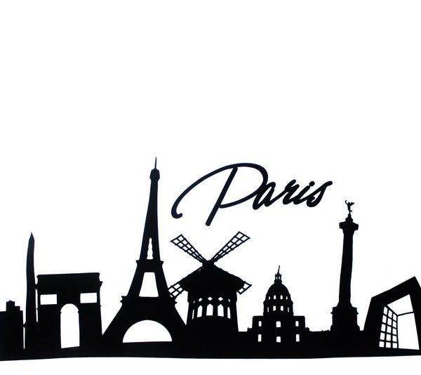 Paris Skyline Applique